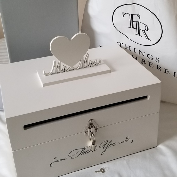 Things Remembered Other Lock And Key Thank You Wedding Card Box
